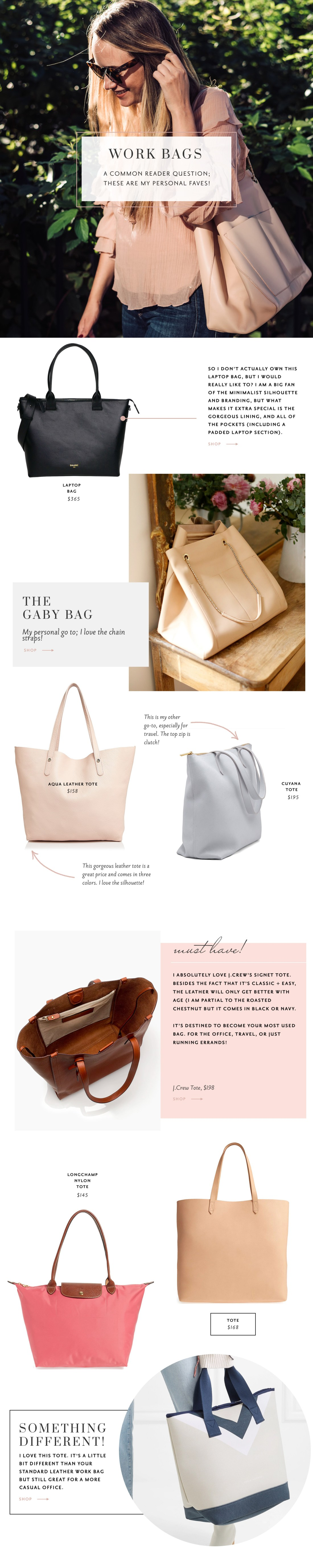 the best work bags | grace atwood, the stripe