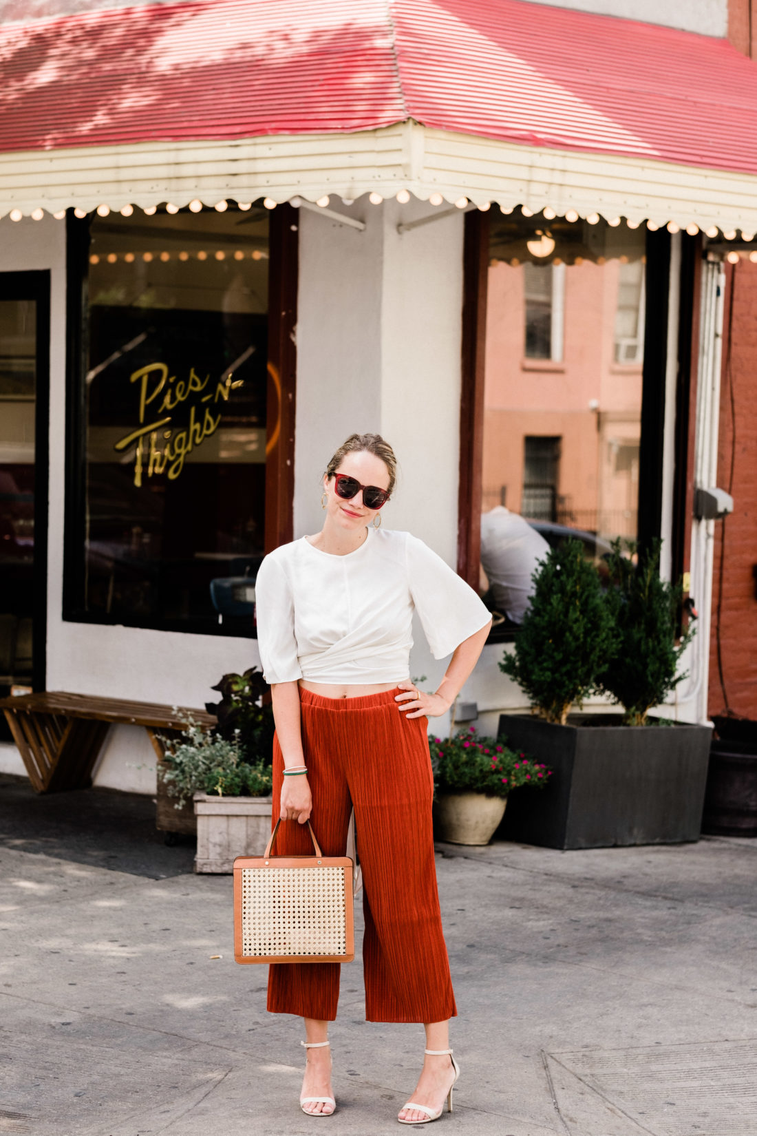 Texture & Thread Micropleat Wide Leg Pants MADEWELL