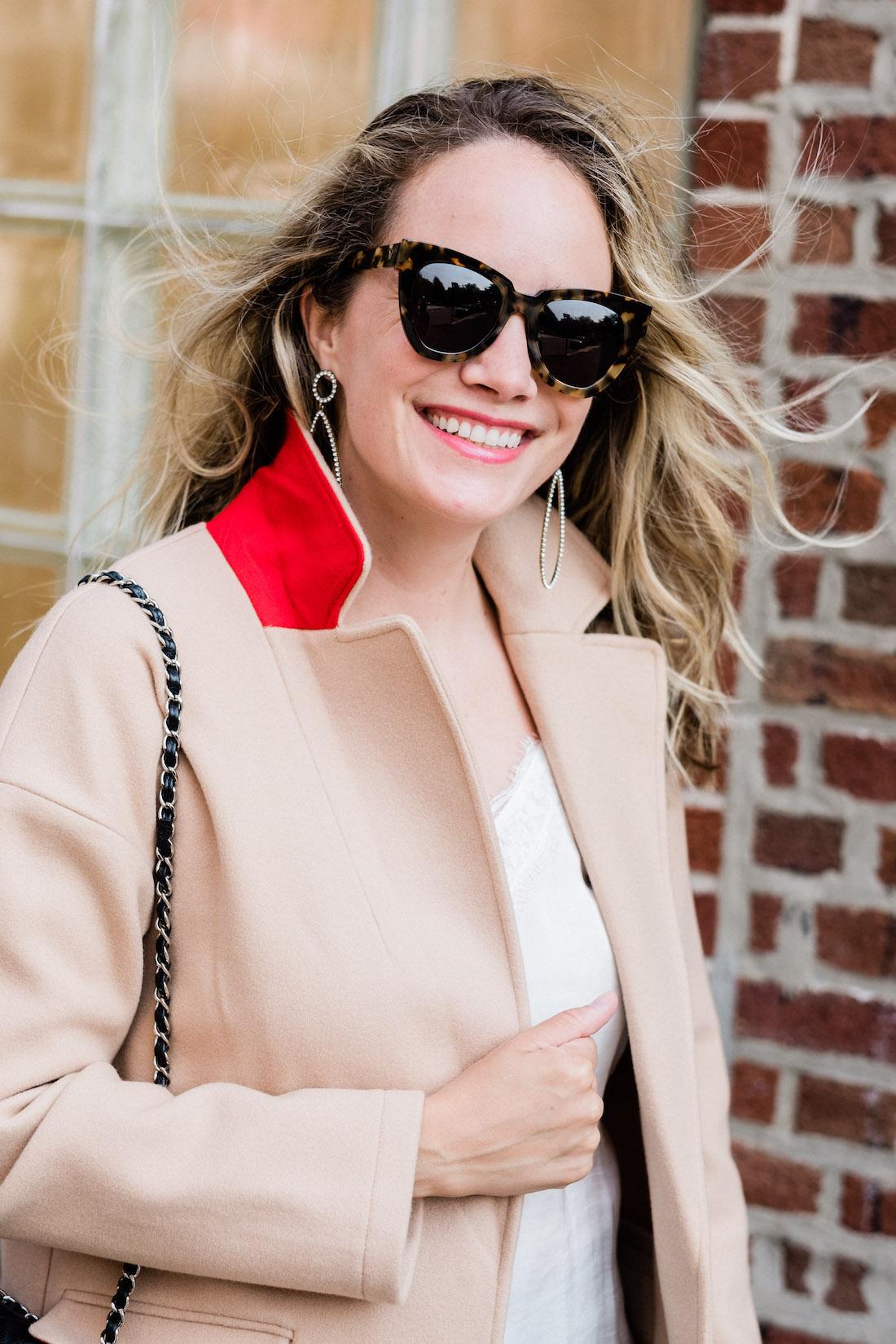 Lily Knit Back Midi Coat TOPSHOP