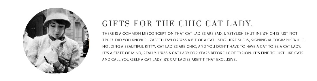 Gift Guide: The Cat Lady.
