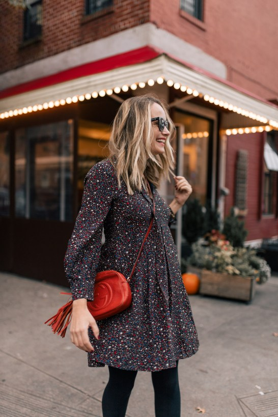 Outfit Details #2:  Madewell Dress //  Gucci purse