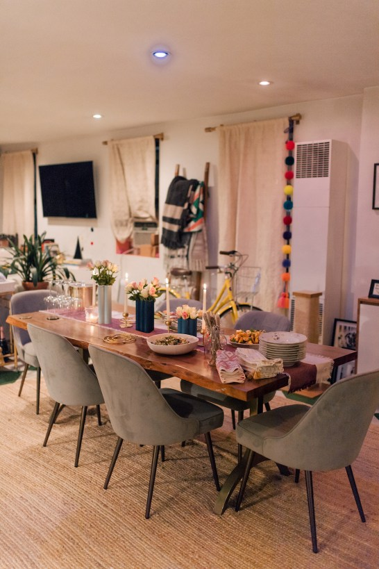 Friendsgiving Celebration And Philips Hue lighting system
