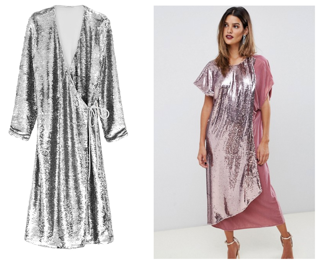 This Ganni sequin wrap dress