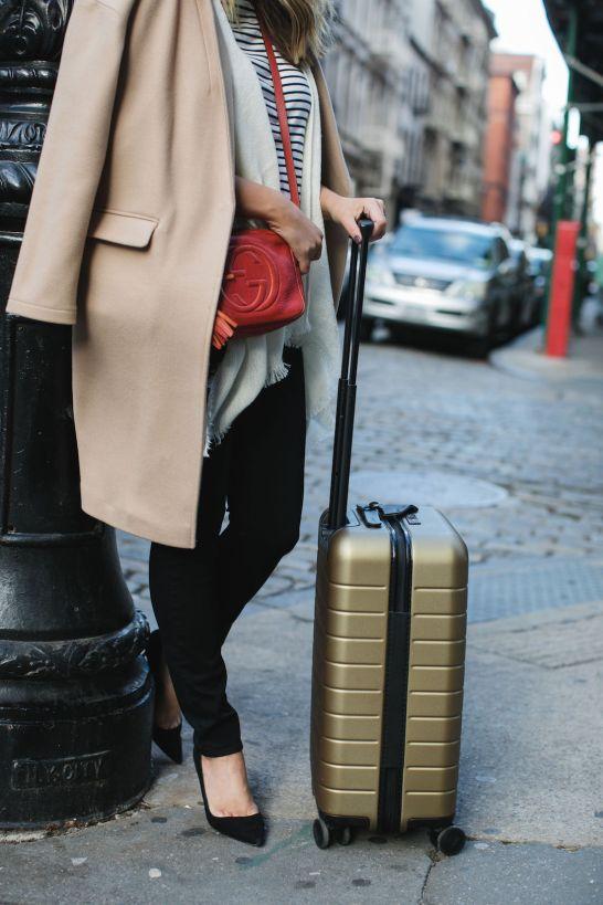 Look 2 Details: Topshop Coat (exact) // Striped t-shirt (similar) // Echo Fringe Trim Cape (exact) // Paige Jeans