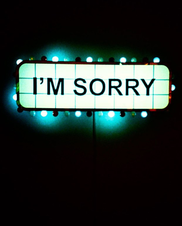 I'm sorry sign