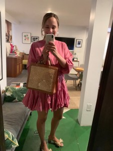 what I actually wore -Rhode Ella Dress