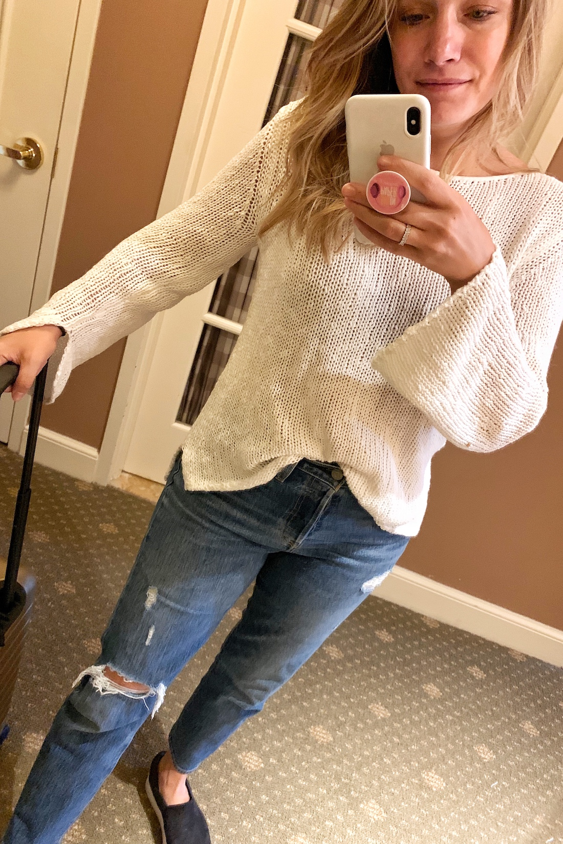 what i wore:MM La Fleur Sweater // Levi's Wedgie Jeans