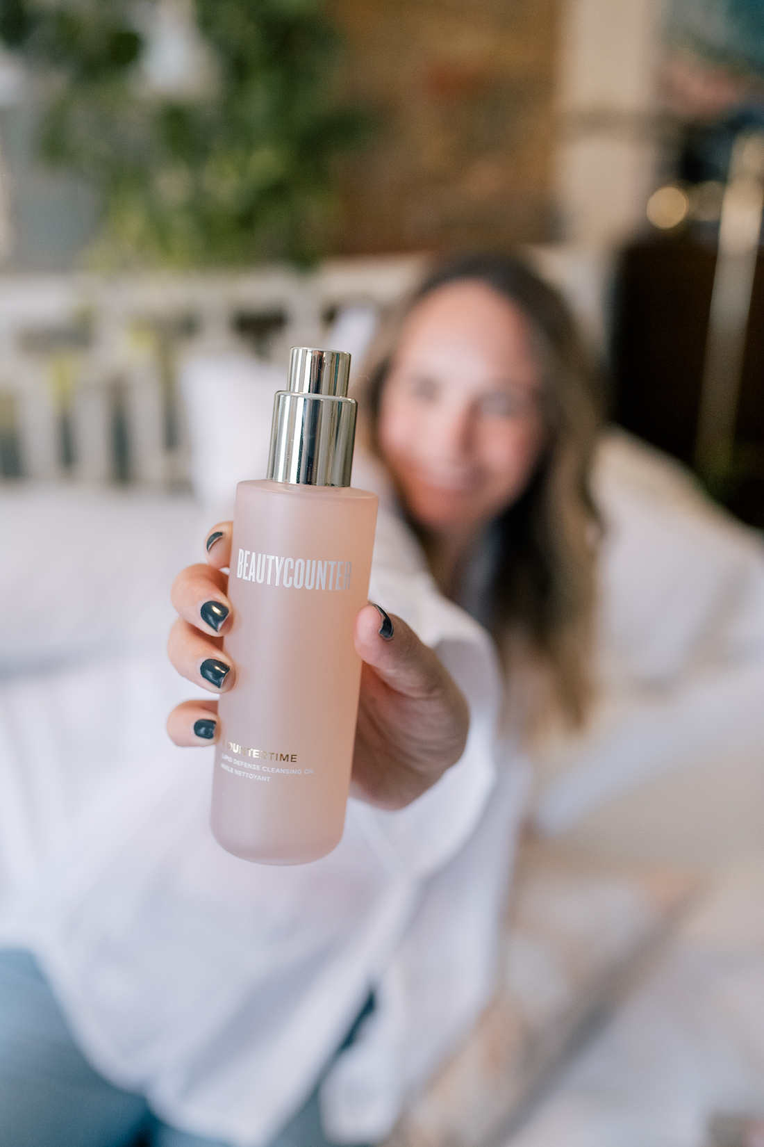 beautycounter product review as seen here with a bottle