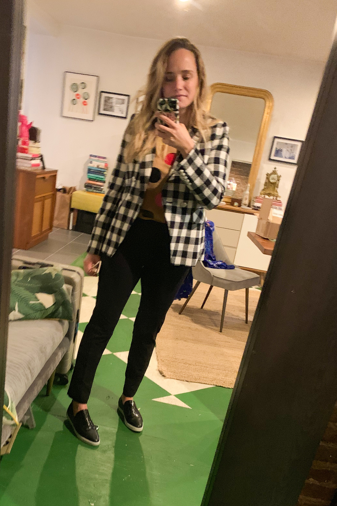 plaid jacket on grace atwood