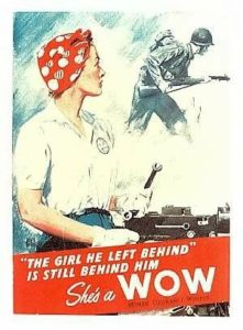Woman of War Propaganda Poster from WWII