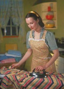 Homemaker ironing