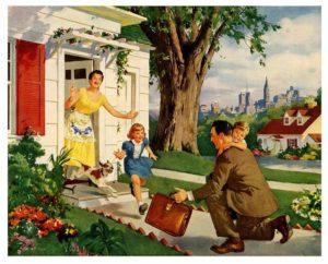 Man leading his family