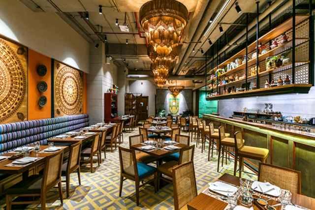 Burma Burma restaurant in Saket, South Delhi, India.