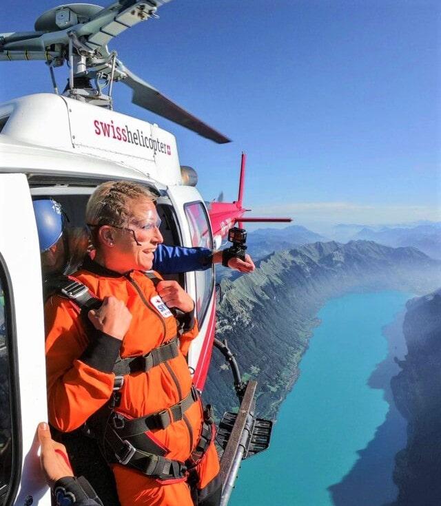 Skydiving in Interlaken, Switzerland