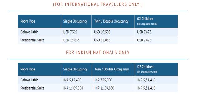 Deccan Odyssey Ticket Price