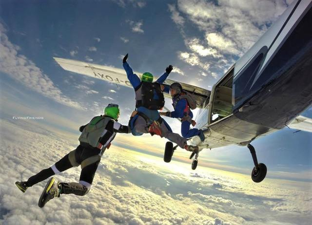 Skydiving in Voss, Norway