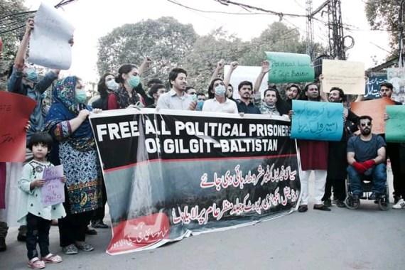بابا جان کی رہائی کے لیے لاہور میں احتجاج
