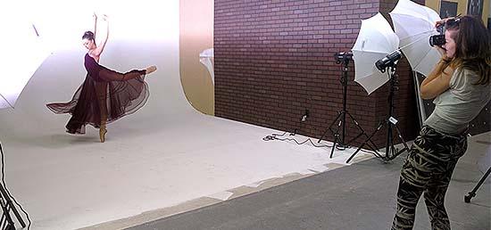 Dancewear photographer rental studio for photography