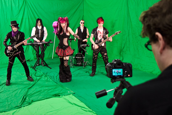 Bella Lune performing for Music Video at The Studio - Phoenix