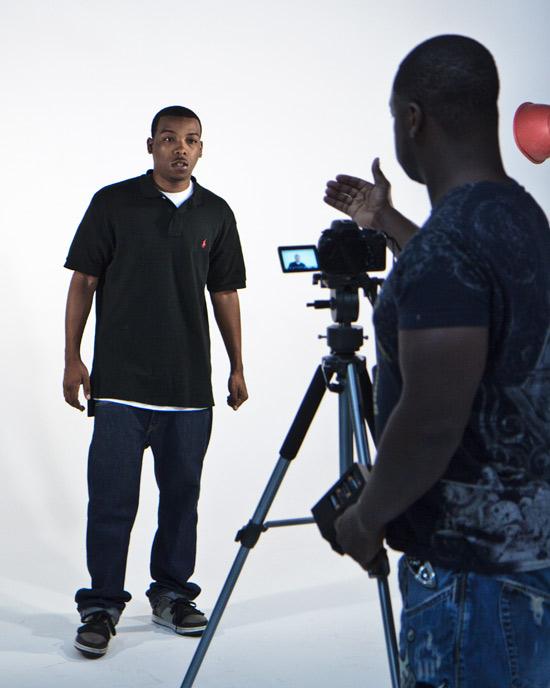 C4 Beginner's Luck / A Hustler's Life shoots promo photos at the best rental photography studio in Phoenix.