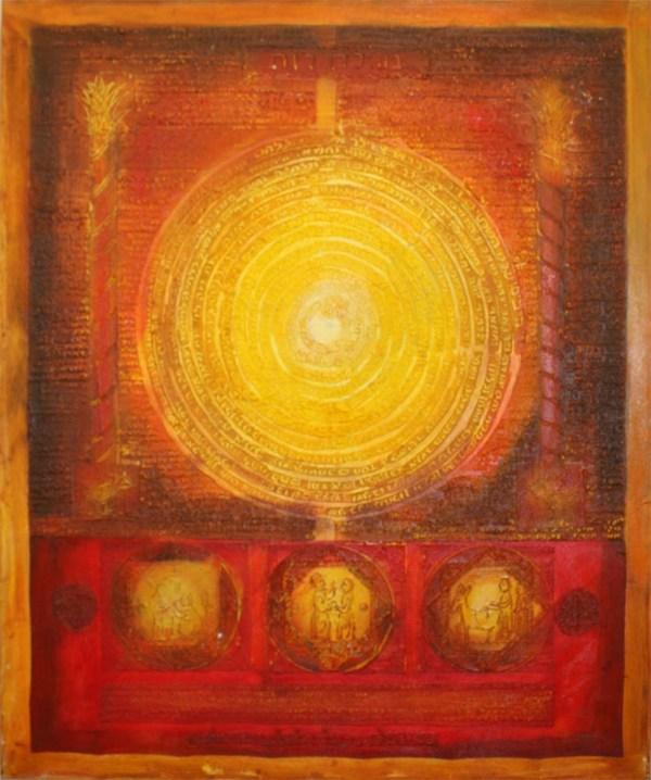 Megillath Ruth Jewish Abstract Painting Kabbalah Symbols