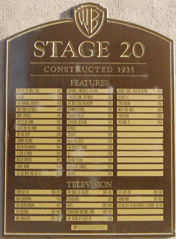 Stage 20 Plaque March 2008