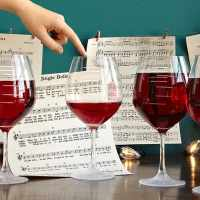 Major Scale Musical Wine Glasses by Uncommon Goods