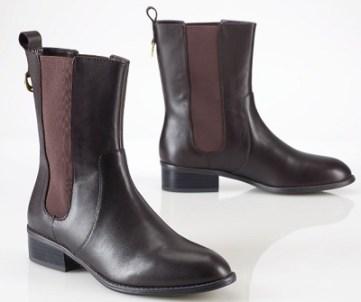 Calf Skin Flat Boot, $129, ralphlauren.com