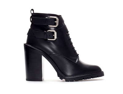 High-Heeled Leather Ankle Boots With Straps, $159, zara.com