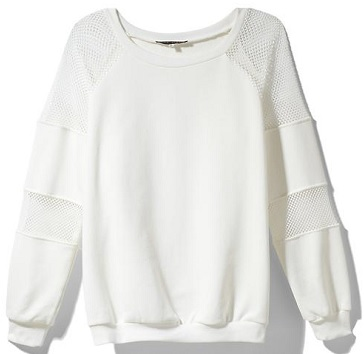 Pure Sugar Sweatshirt With Mesh Panels, $44.97, piperlime.com
