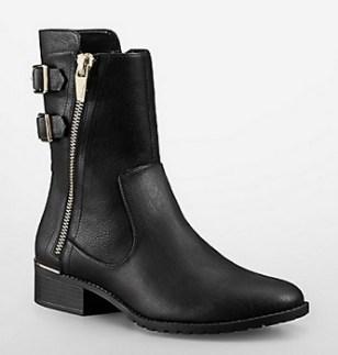 Rasa Buckle Detail Leather Boot, $150, calvinklein.com