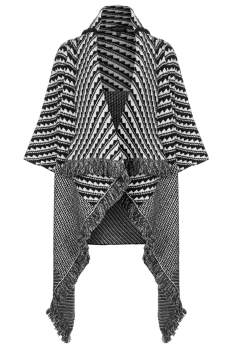 Pattern Blanket Coat, $140, topshop.com