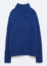 Turtleneck Cable Knit Sweater, $79.99, zara.com