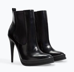 High Heel Strap Bootie, $49.99, zara.com