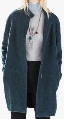 Mohair Coat, $79.99, zara.com