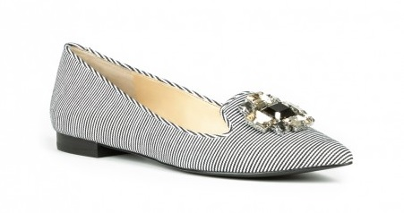 Libry Bejeweled Flat, $64.95, solesociety.com