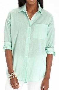 Women's Linen Blend Boyfriend Shirt (in Mint), $16, oldnavy.com
