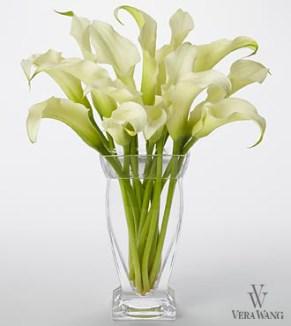 Vera Wang White Calla Lilly Bouquet, $89.99, ftd.com