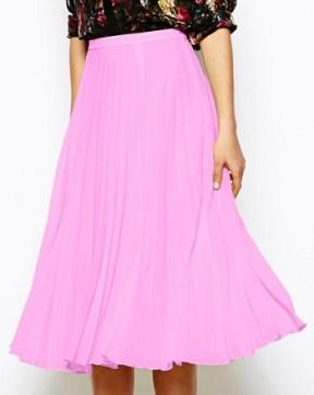 Pleated Midi Skirt, $56, asos.com