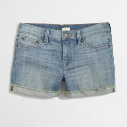 Cut-Off Denim Shorts, $29.50, factory.jcrew.com