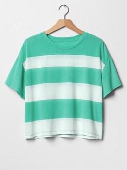 Stripe Crop Tee, $16.99, gap.com