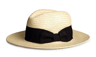 Straw Hat, $14.99, hm.com