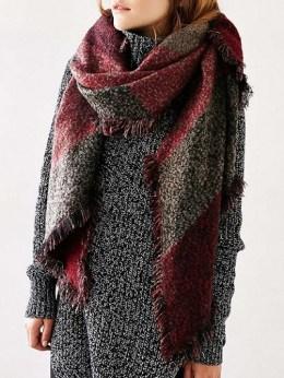 Oversized Geo Blanket Scarf, $39.90, urbanoutfitters.com