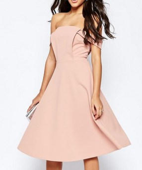 ASOS Midi Dress With Tab Shoulder and Full Skirt, $72, asos.com