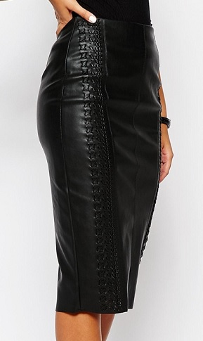 River Island Whipstitch Faux Leather Pencil Skirt, $77, asos.com