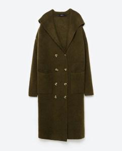 Long Jacket With Hood, $70, zara.com