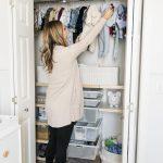 Nursery Elfa Closet System Organization The Styled Press