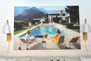 Pool house featuring Slim Aaron's Poolside Gossip