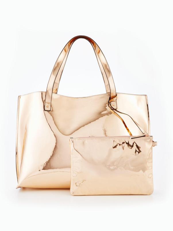 Metallic Beach Bag, €38 Shop here