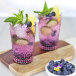 Recipe: Blueberry Lemon and Cucumber Gin Mojitos